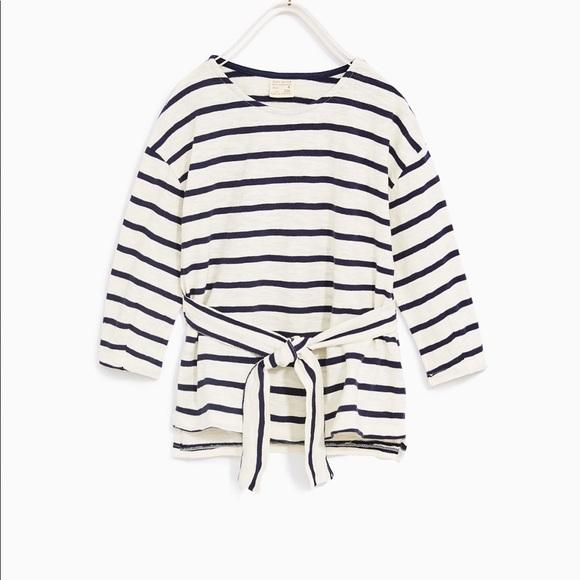 c8a9cdb5298e Zara Shirts & Tops | Girls Front Tie Tshirt | Poshmark